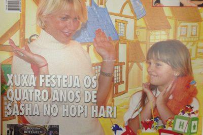 Xuxa festeja 4 anos de Sasha - Andrea Guimarães