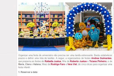 Organizadora dá dicas para preparar festas infantis – Andrea Guimarães