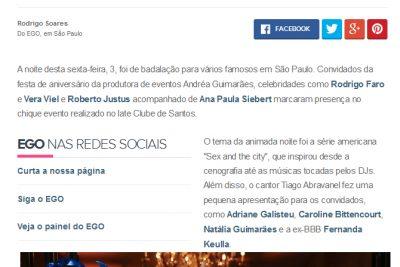 Famosos prestigiam o aniversário de Andrea Guimarães