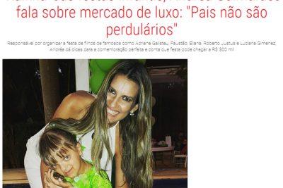 Rainha das Festas Infantis Fala sobre o mercado de Luxo - Andrea Guimarães