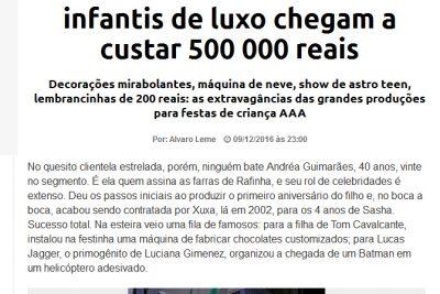 Festinha? Aniversários infantis de luxo - Andrea Guimarães