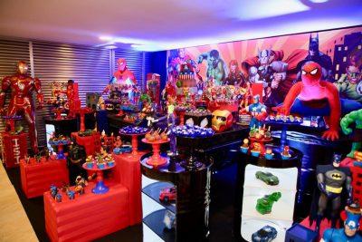 Festa Super Heróis Residencia - Andrea Guimaraes Party Planner