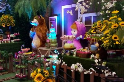 Festa Masha e o Urso - Andrea Guimarães Party Planner